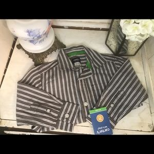 4 / $25 Carter's long sleeve stripped button up